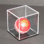 Cricket Ball Display Case with Black Base
